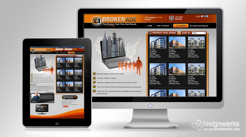 Brokerade-web-design