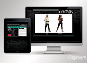 Heritage-clothing-web-design